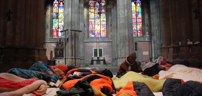 Der Flüchtlingsprotest in der Wiener Votivkirche. (cc) dd4rc @ flickr.com