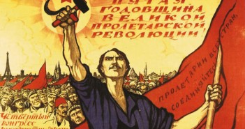 Sowjet Poster zum 5.Jahrestag der Oktoberrevolution und des IV.Kongresses der Kommunistischen Internationale, 1922 (cc) Wikimedia Commons