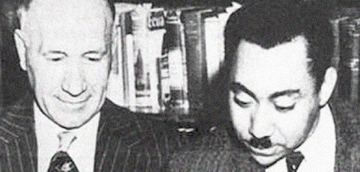 Sayyid Qutb (rechts) 1949 mit College-Präsident William R. Ross in Greeley, Colorado.