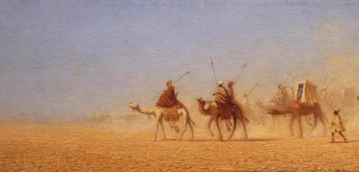 Théodore Frère. Eine Karawane durchquert die Wüste. (cc) Wikimedia Commons)
